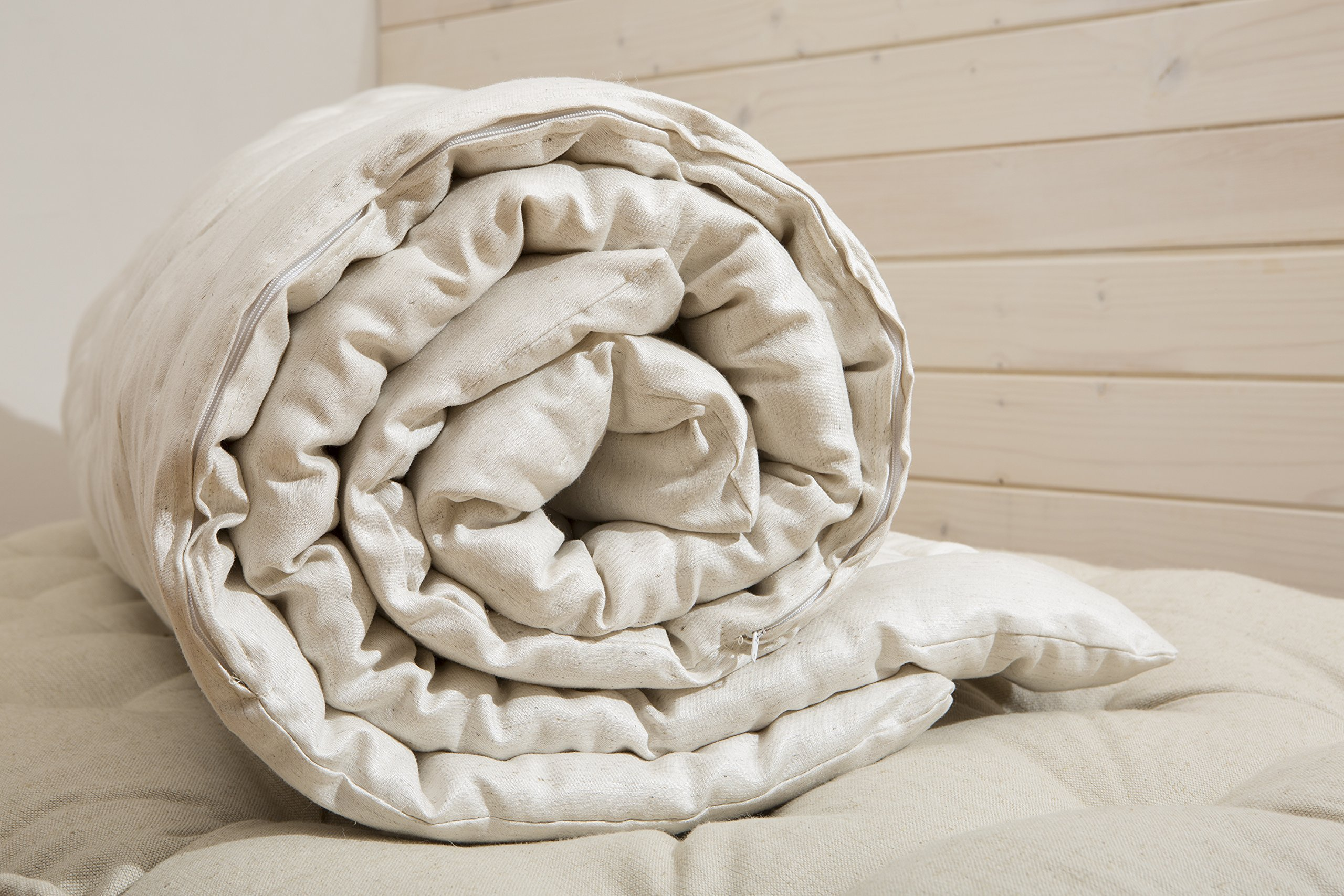 Home of Wool / Handmade Wool-filled Duvet Insert / Quilt / Comforter / Doona / Summer or Winter thickness / Natural / Non-toxic / Full, Twin, Queen, King or Any Custom Size by Home Of Wool (Image #3)