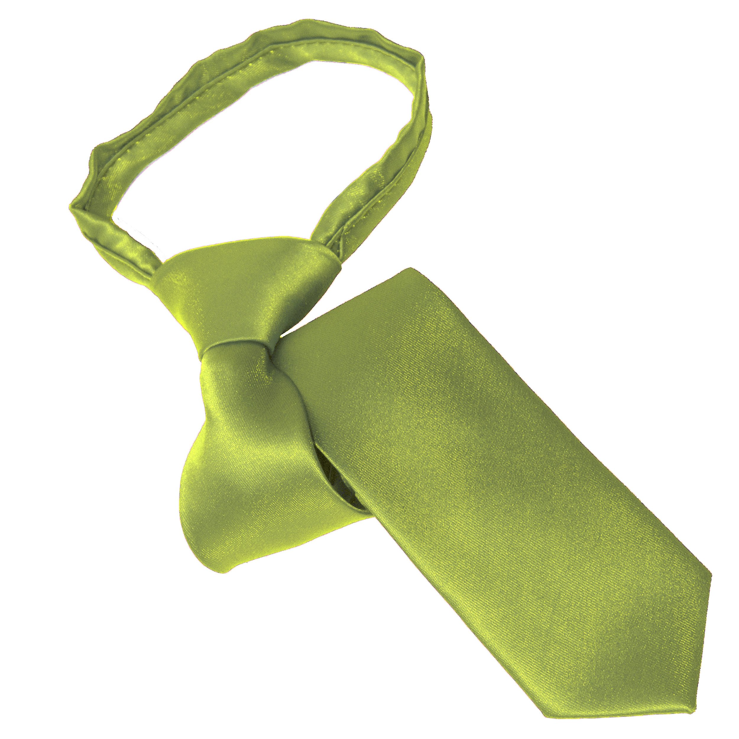 Lawn Green Youth Zipper Tie