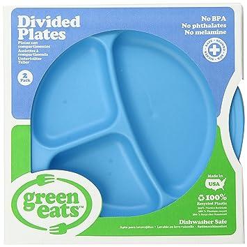 Green Eats Divided Tray Blue