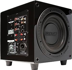 Earthquake Sound MiniMe P8_V2 8-inch Passive Tuned Powered Mini Subwoofer, Black