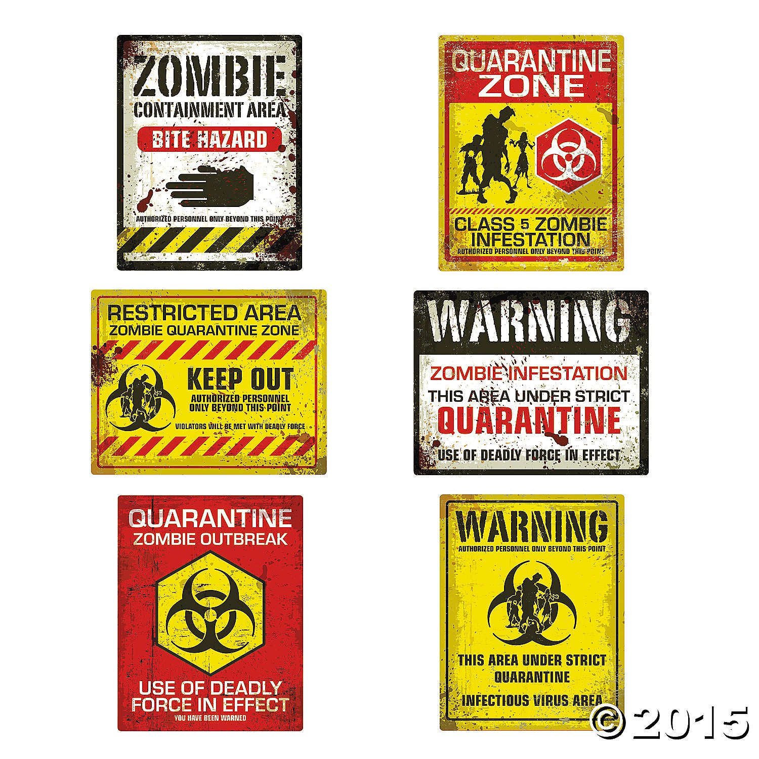 Amazon.com: Zombie Halloween Party Posters - Assorted Styles - 6 ...