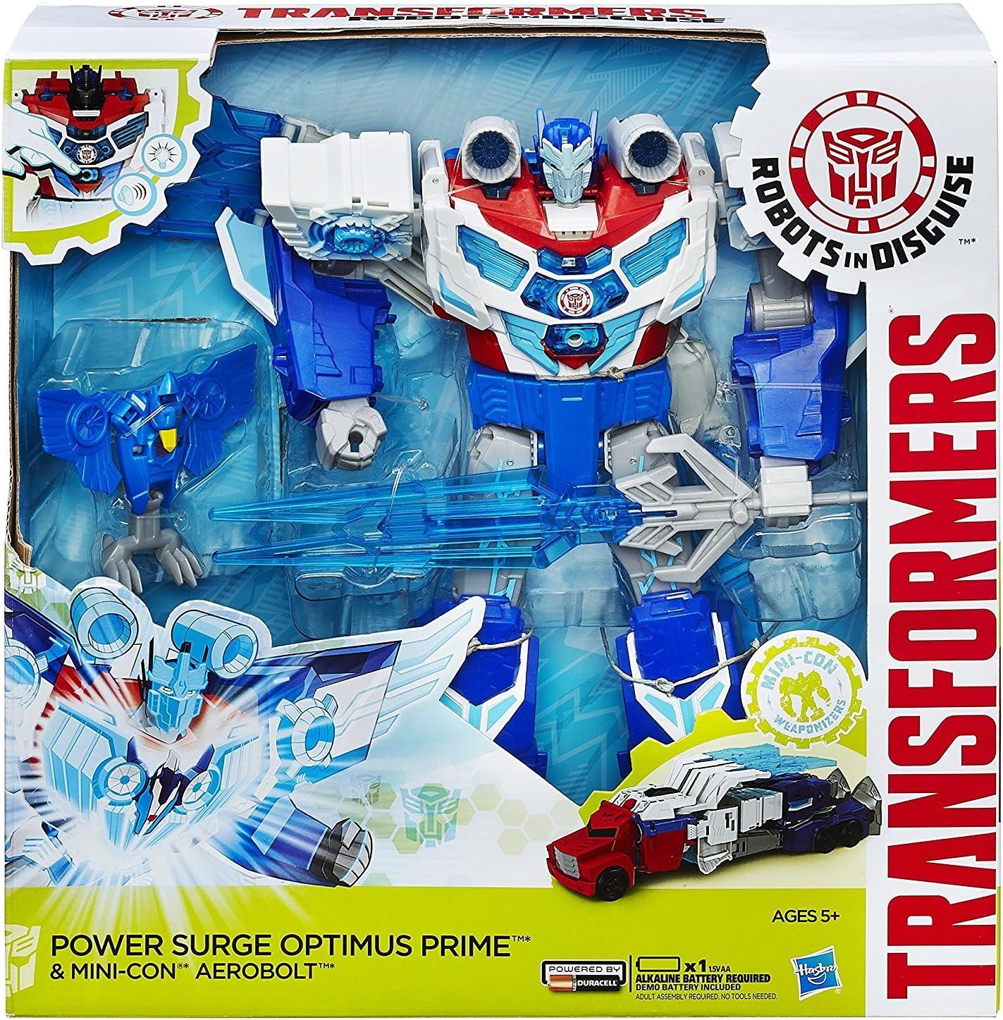 Transformers Robots in Disguise surtension Optimus Prime un aerobolt Figure Toy