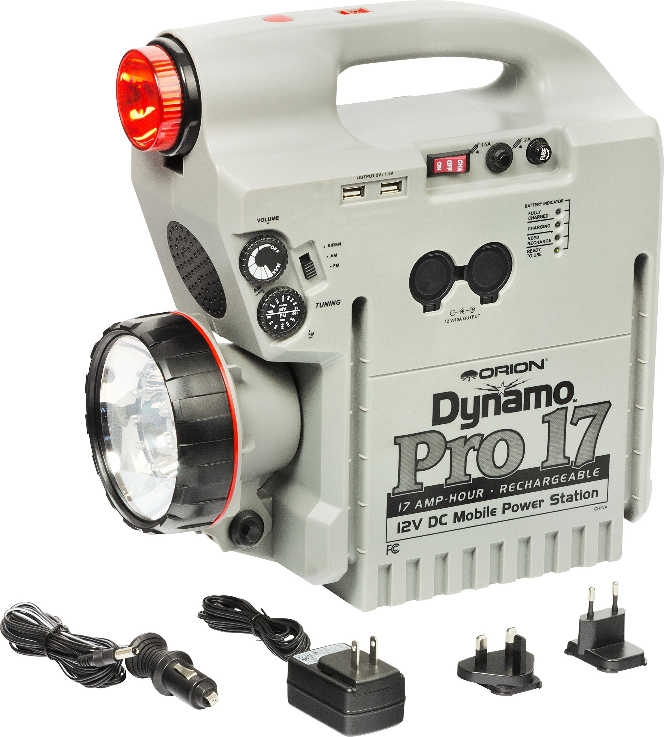 Orion 02308 Dynamo Pro 17Ah Rechargeable 12V DC Power Station (Gray) by Orion