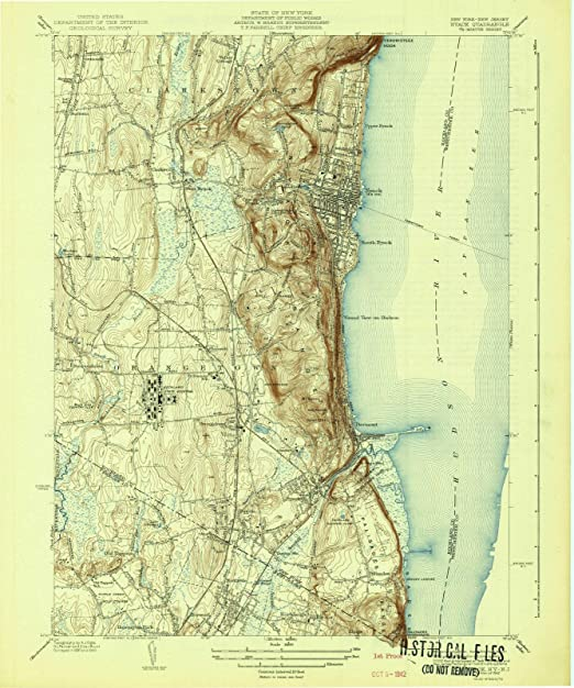 amazon com new york maps 1942 nyack ny usgs historical topographic wall art 24in x 30in posters prints amazon com