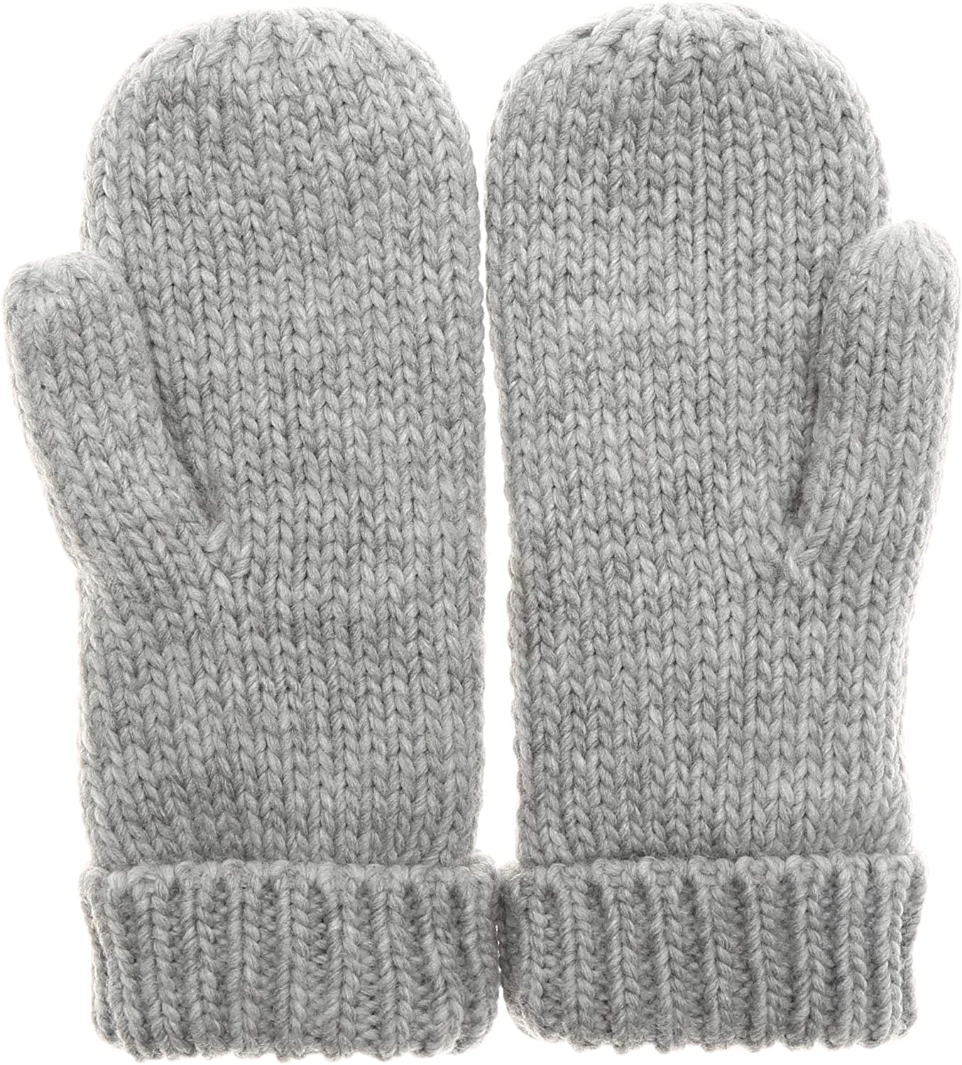 MIRMARU Women/'s Warm Winter Gloves Cozy Soft Cable Knit Mittens with Fleece Lining