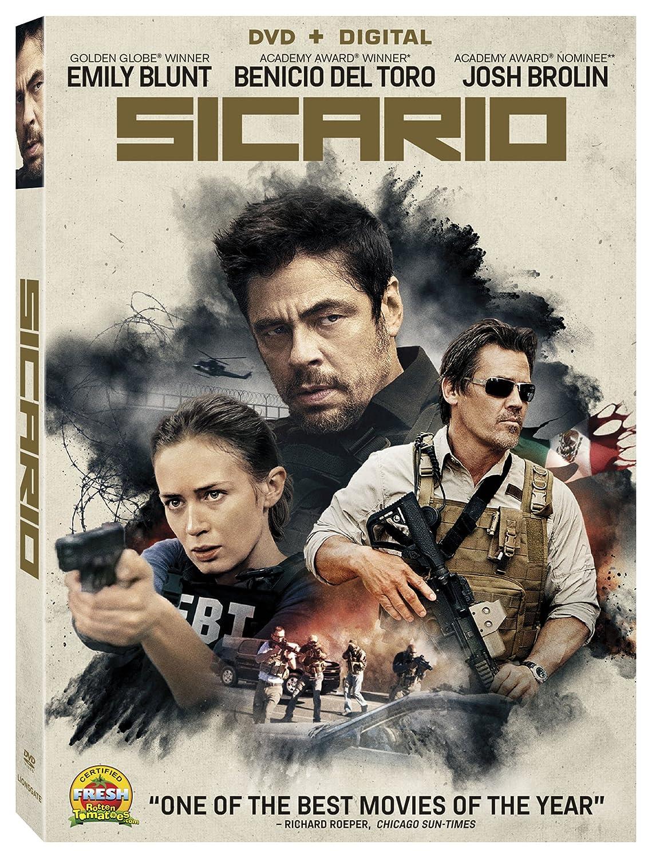 Amazon Com Sicario Dvd Digital Emily Blunt Benicio Del Toro Josh Brolin Jon Bernthal Victor Garber Denis Villeneuve Movies Tv