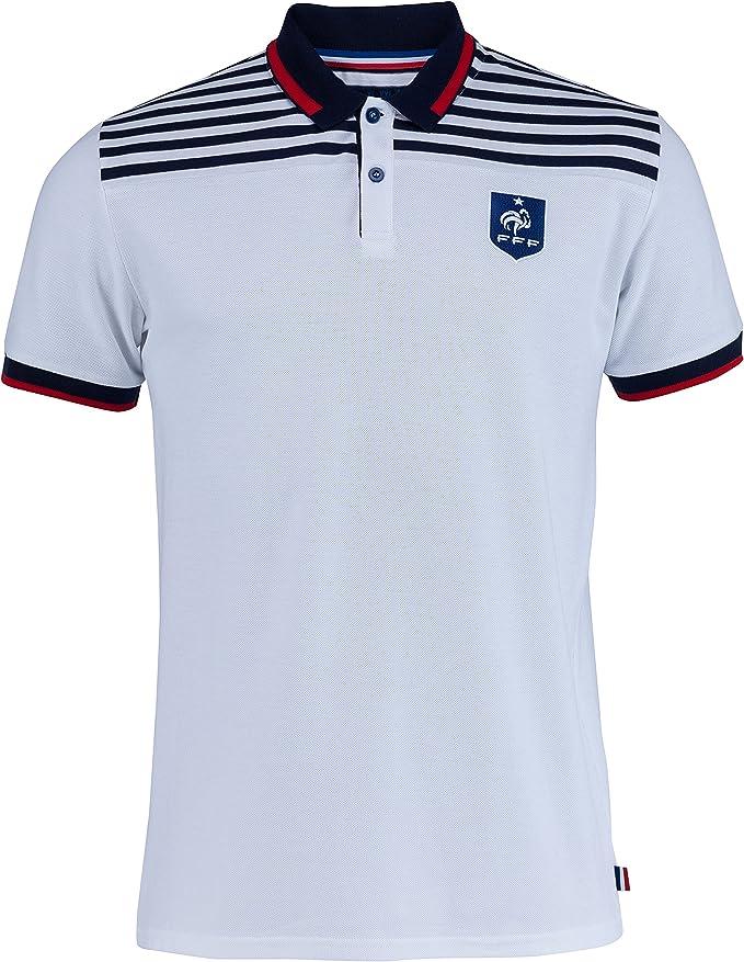 Camiseta de la selección francesa de fútbol FFF, colección oficial, talla para hombre, Hombre, blanco, small: Amazon.es: Ropa y accesorios
