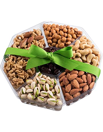 Mother's Day Nuts Gift Basket | Extra-Large 7-Sectional Delicious Variety Mixed Nuts