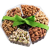 Mother's Day Gift Baskets, Large Gourmet Mixed Nuts Gift Basket For Her, 7-Sectional Birthday Gifts, Healthy Gift Idea For Mothers & Fathers Day Gifts Baskets, By Nut Cravings