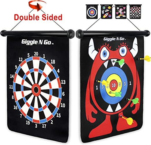 GIGGLE N GO Magnetic Dart Board Game - The Best Dart Board For Kids