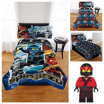 Lego Ninjago Bedding Comforter Set with Pillow Buddy Ninja - Twin ...