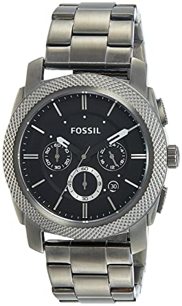 b80238458cc Amazon.com  Fossil Men s FS4662 Machine Chronograph Stainless Steel ...