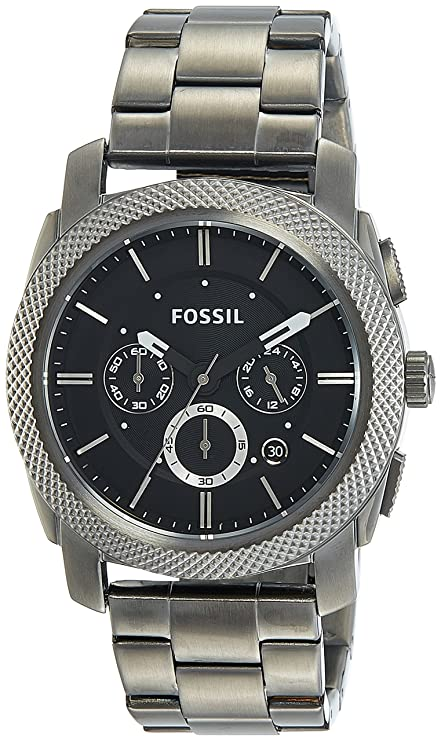 47ab3b1cc4b8 Amazon.com  Fossil Men s FS4662 Machine Chronograph Stainless Steel Watch -  Smoke  Fossil  Watches