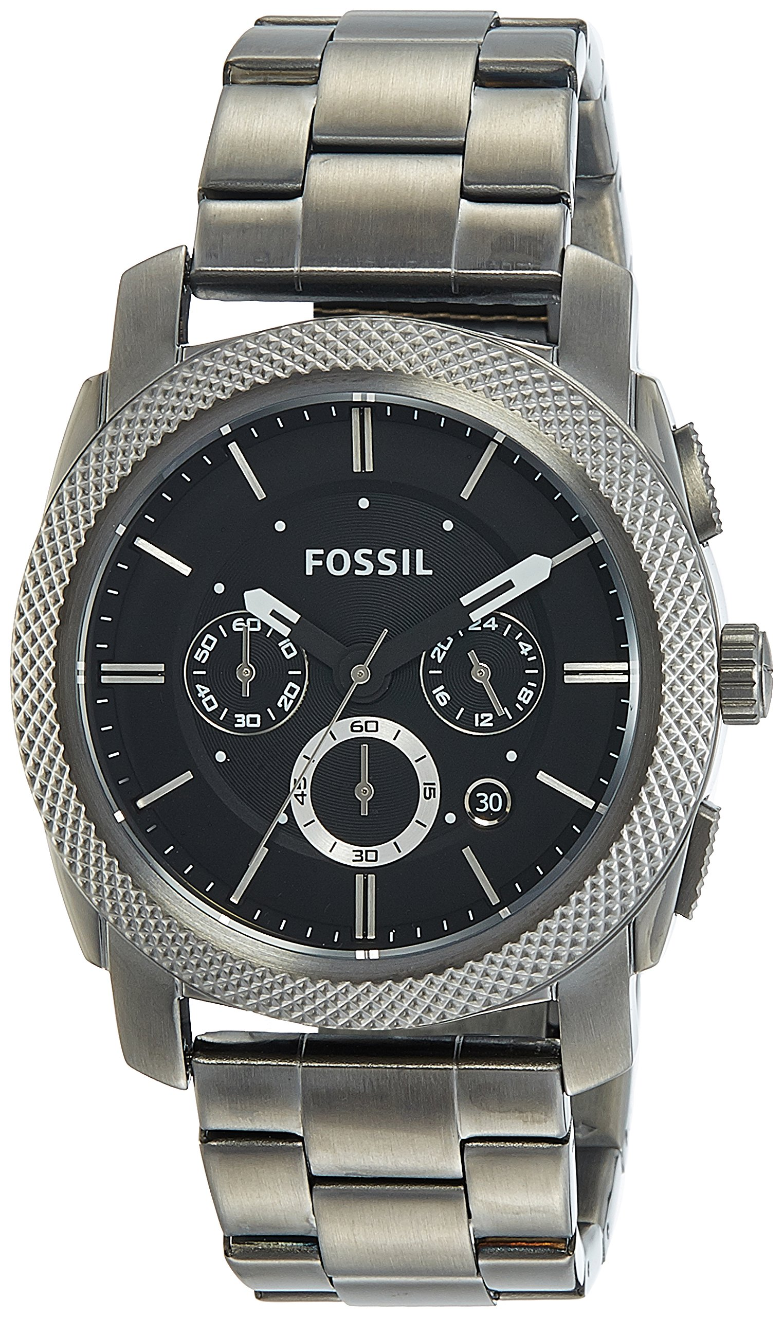 Fossil Men's FS4662 Machine Chronograph Stainless Steel Watch - Smoke by Fossil