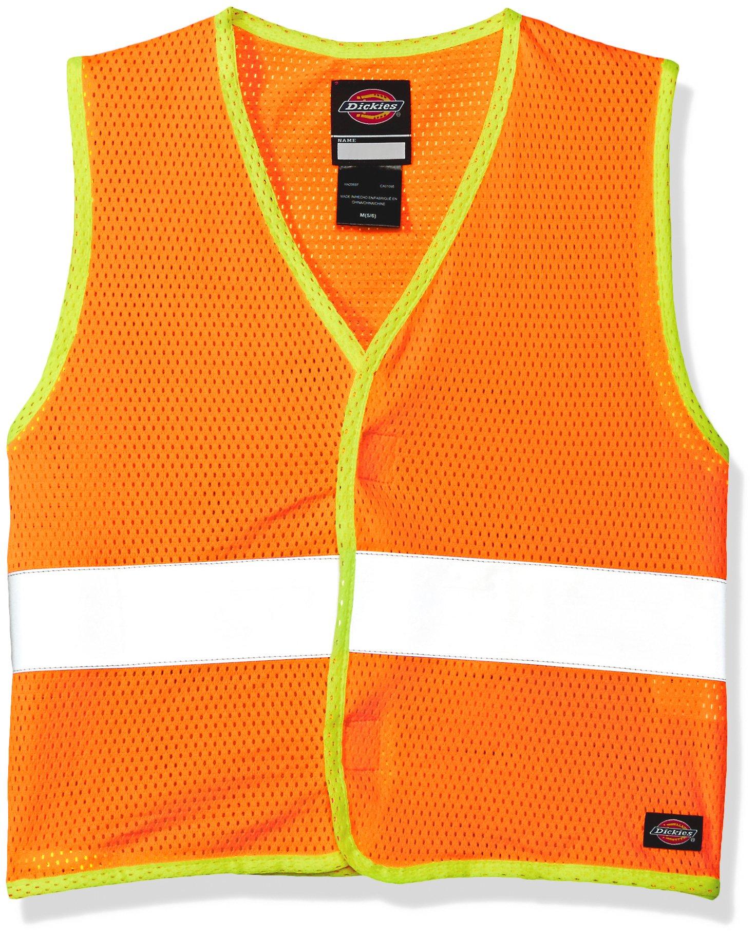 Dickies Toddler Boys' Pre-School E-Vis Safety Vest, Neon Orange, Large