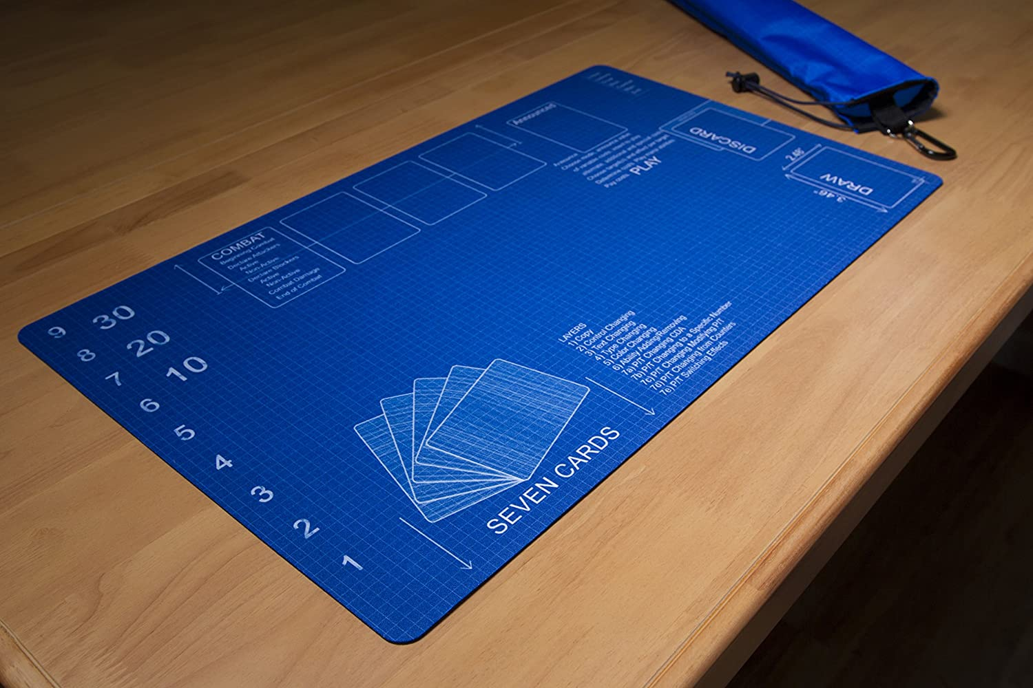 Blueprint Playmat Playmat Bag Kit by Inked Gaming Perfect for TCG Card Gaming Playmat Tube Plus Playmat Inked Playmats