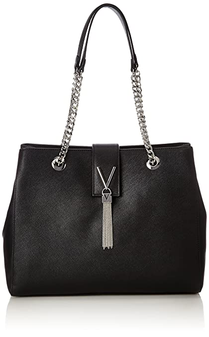 ab03bd7d21d Mario Valentino Women VBS1IJ05 bag Black Size: UK One Size: Amazon ...