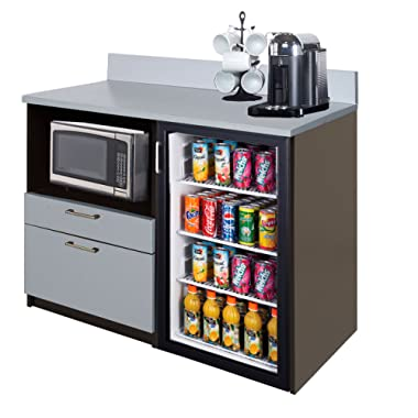 Coffee Kitchen Lunch Break Room Cabinets Model 4219 BREAKTIME 1 Piece Group Color Espresso/Silver Metalic - Factory Assembled (NOT RTA) Furniture Items ONLY.