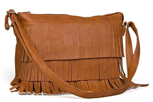 Felicita Tassel Fringe Women's Sling Bag (Brown,Sb00050Brw ...