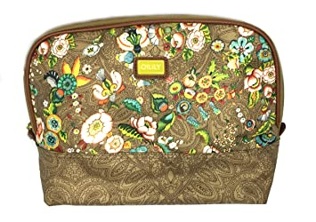 Amazon.com   Oilily Floral Print Cosmetic Toiletry Travel Case (Large Toiletry  Bag, Tobacco)   Beauty d64b5fb347