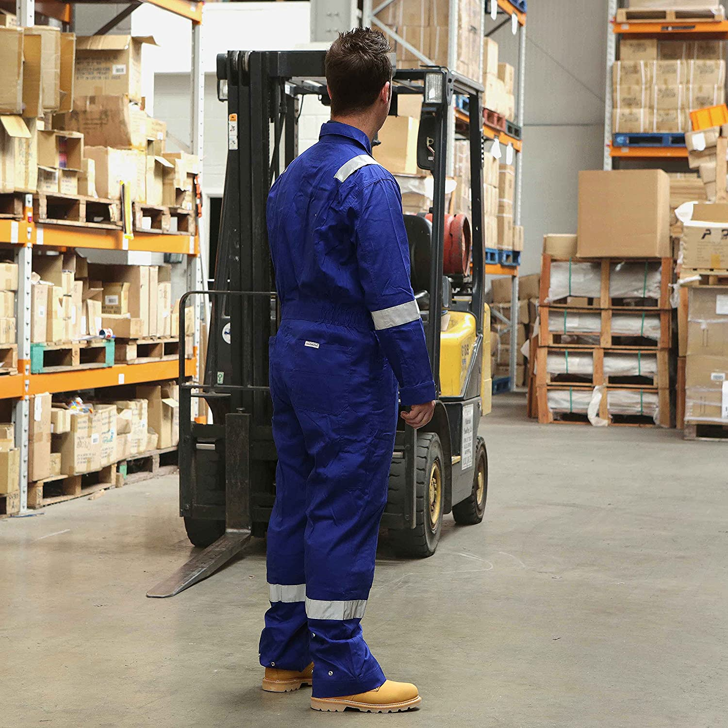 Walls FR Flame Resistant Work Wear Overalls Coverall Boiler Suit Royal RRP £100