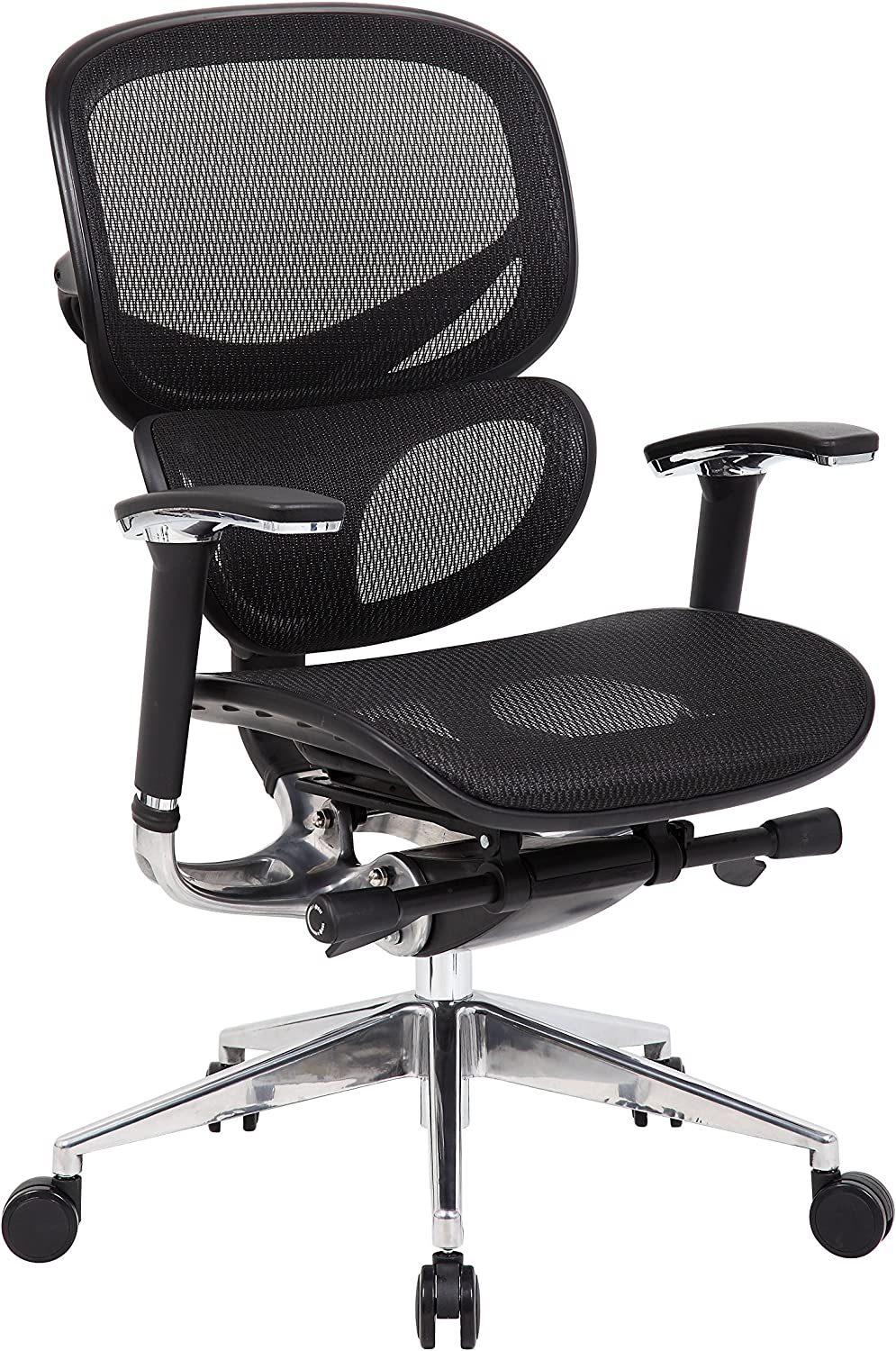 Boss Office Products Multi-Function Mesh Chair in Black