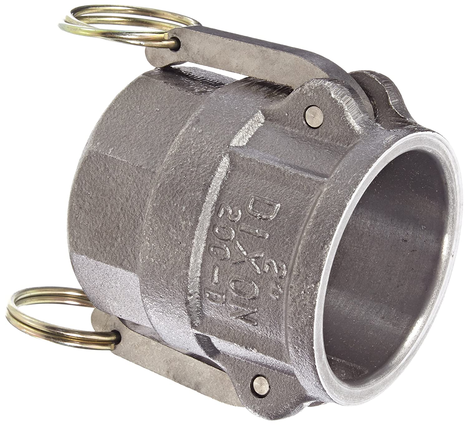 Dixon 300-D-MI Unplated Iron Type D Cam and Groove Hose Fitting 3 Socket x 3 NPT Female 3 Socket x 3 NPT Female Dixon Valve /& Coupling