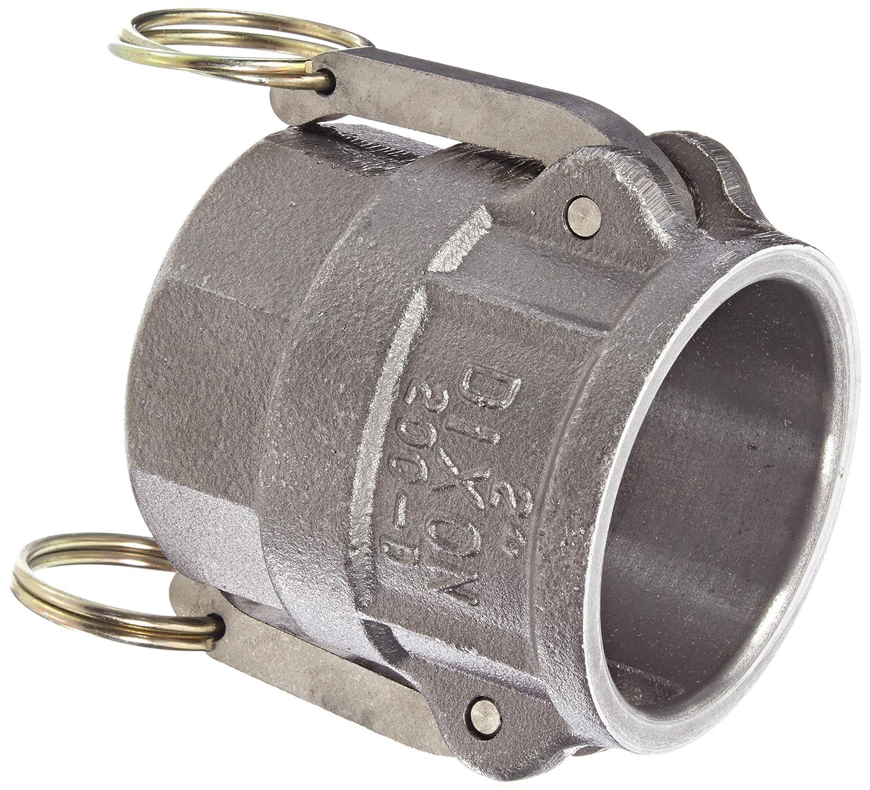Dixon 200-A-MI Unplated Iron Boss-Lock Type A Cam and Groove Hose Fitting 2 Plug x 2 NPT Female