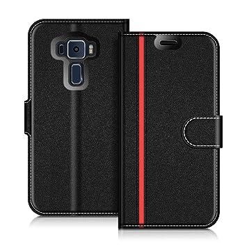 Coodio ASUS Zenfone 3 ZE552KL Hülle Leder Lederhülle Ledertasche Wallet Handyhülle Tasche Schutzhülle mit Magnetverschluss /