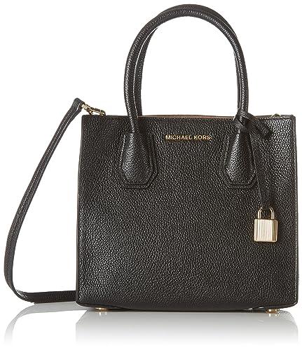 Michael Kors Womens Mercer Messenger Bag Black (Black)  Amazon.co.uk ... 9221c9605