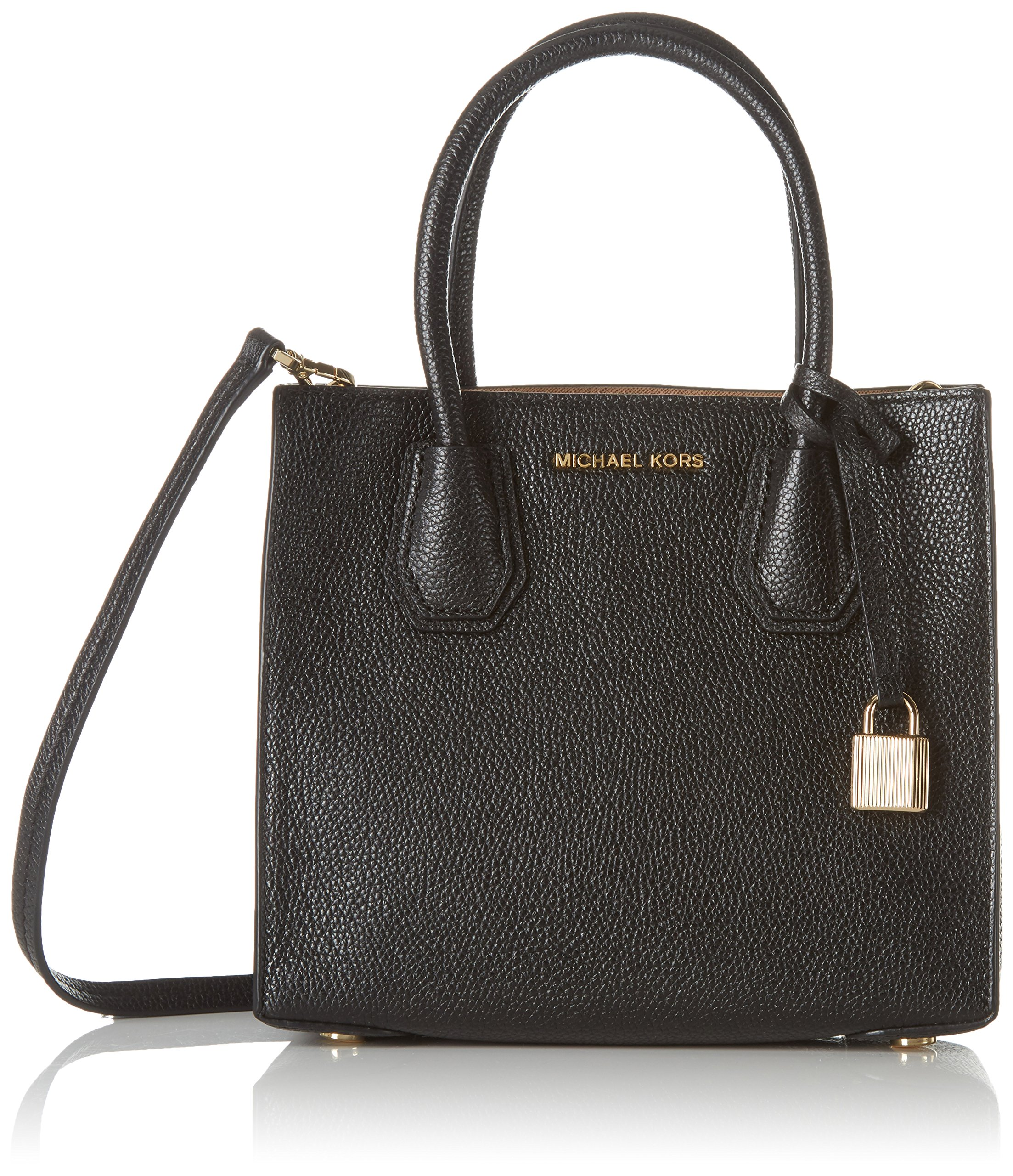 MICHAEL Michael Kors Women's Mercer Mini Tote, Black, One Size