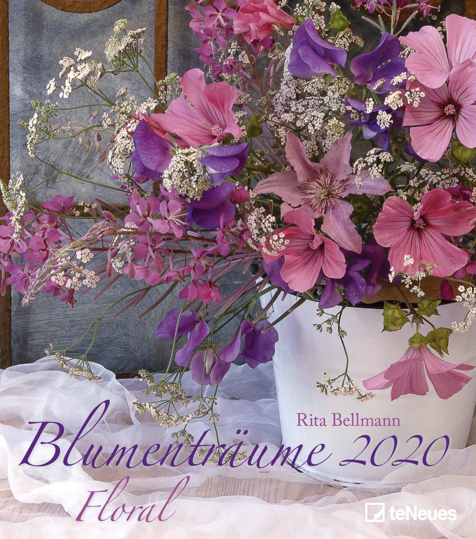 Blumenträume 2020   Wandkalender   Rita Bellmann   30x34cm   Blumenkalender   Fotokalender