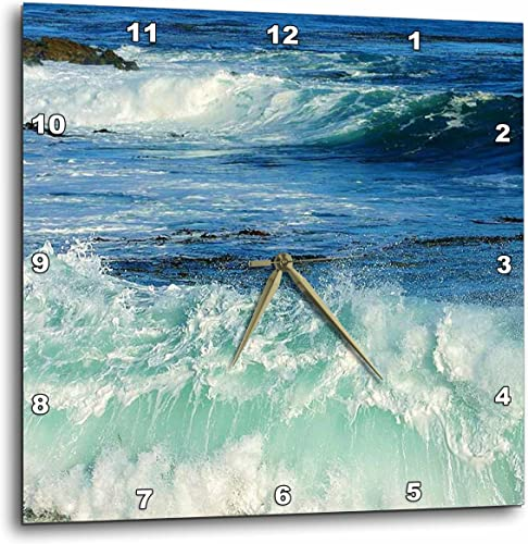 3dRose Pacific Ocean Waves – Wall Clock, 15 by 15-Inch DPP_43784_3