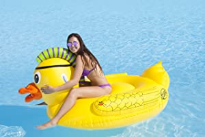SportsStuff PUNK PIRATE DUCK Pool and Lake Float, Yellow, 70 inches
