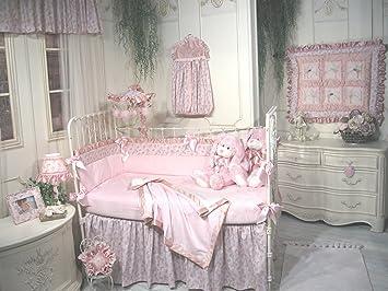 jessica mcclintock baby fairy dust 5piece crib set pink and cream - Jessica Mcclintock Furniture