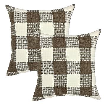 Amazon.com: Juego de 2 fundas de almohada para sofá de 18.0 ...