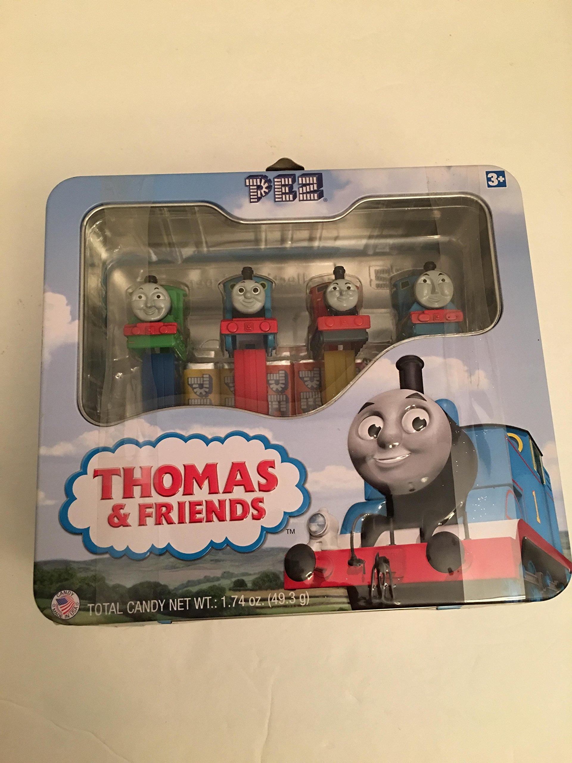 Thomas The Train Collectible Tin Tote Pez Candy Set by Pez