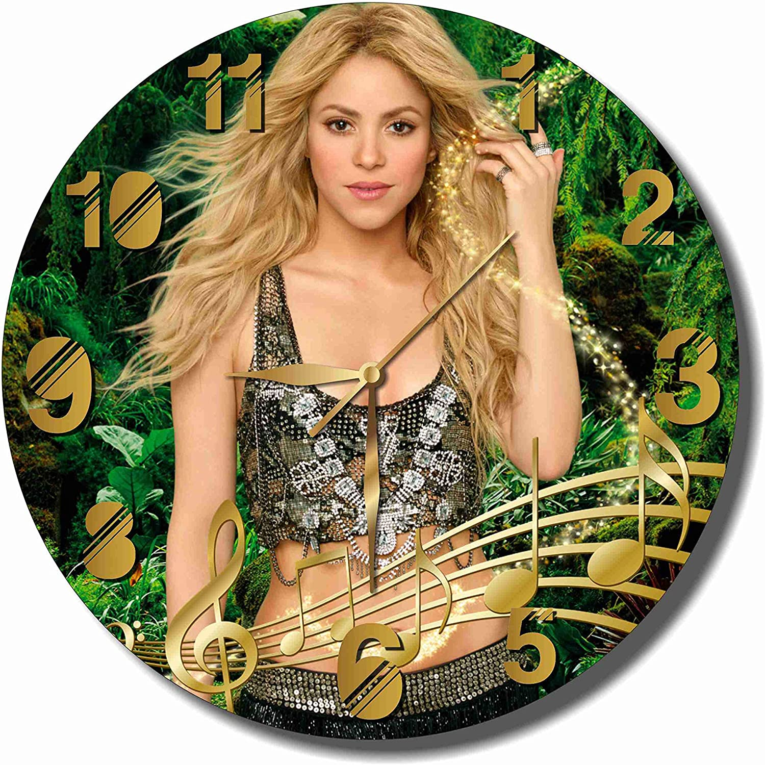 Shakira 11.8'' Handmade Wall Clock - Get Unique décor for Home or Office – Best Gift Ideas for Kids, Friends, Parents and Your Soul Mates