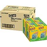Glad Recycling 加长拉绳厨房蓝色垃圾袋 - 397 L - 45 只装 - 4 包(包装可能不同)