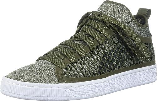 Puma Basket Classic Netfit, Herren Sneaker Grün Olive Night