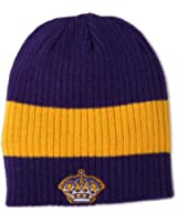 Los Angeles Kings Yellow Throwback Purple CCM Cuffless Beanie Knit
