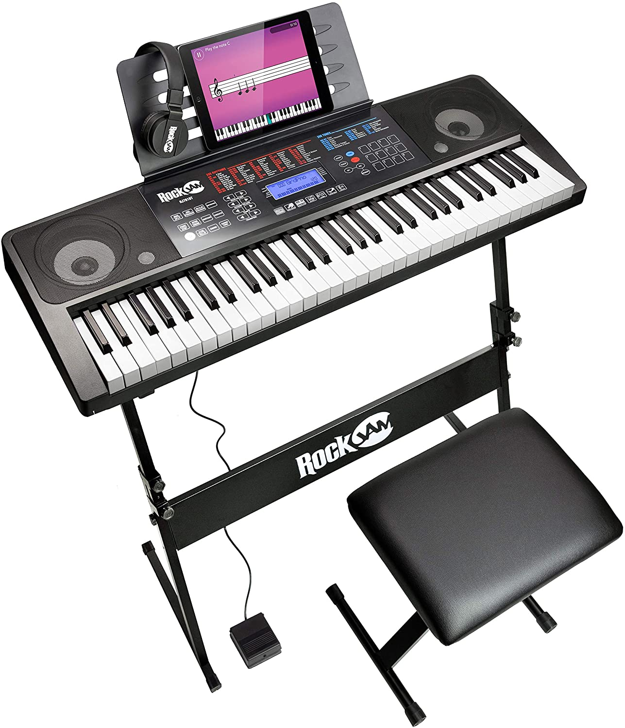 RockJam RJ761 61 Kit de teclado de piano, piano digital 61 clave ...
