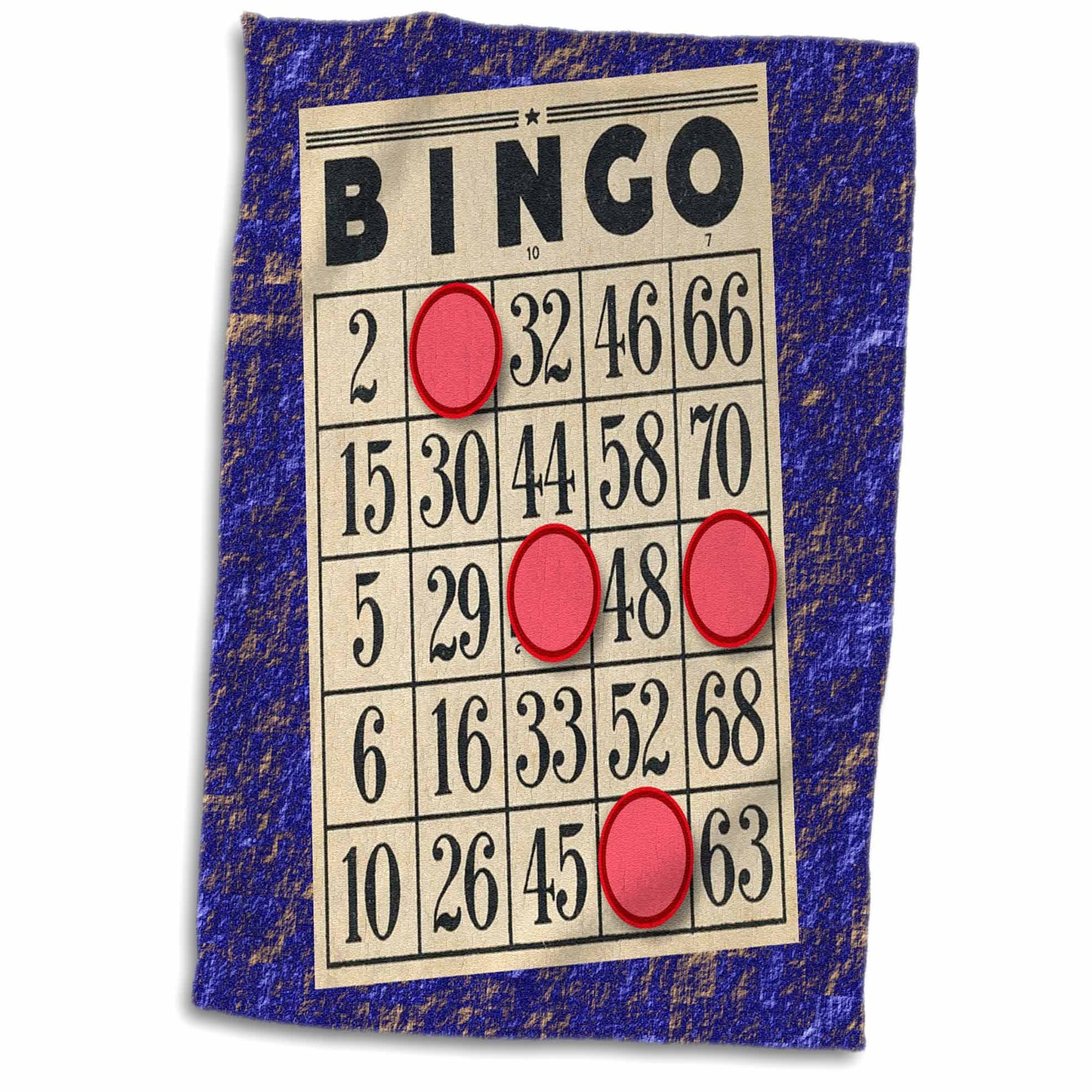 3D Rose Playing Bingo Hand Towel, 15'' x 22'', Multicolor by 3dRose
