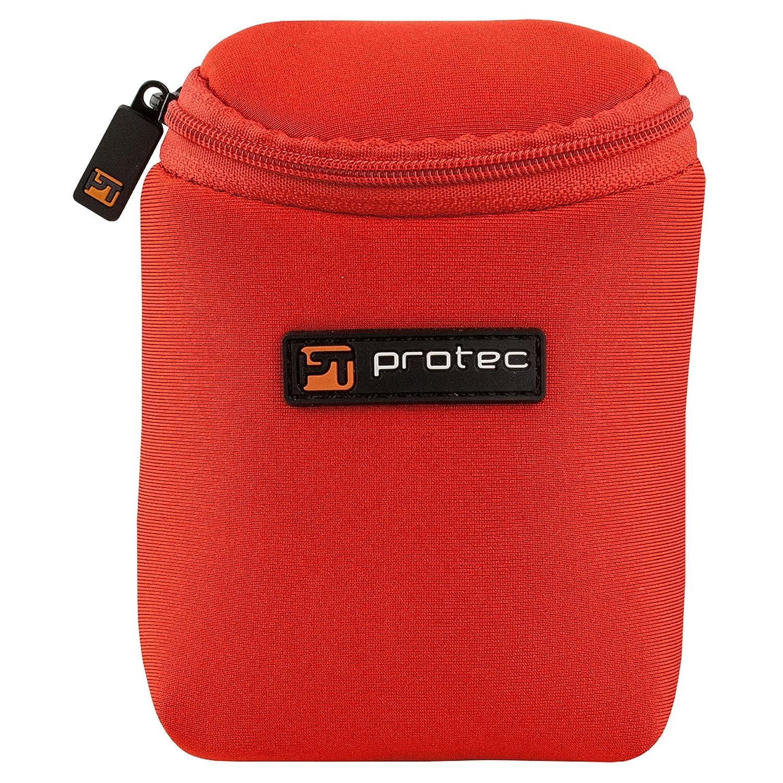 Protec Trumpet/Small Brass Single Neoprene Mouthpiece Pouch with Zipper Closure - Black, Model N203 Pro Tec
