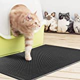 "Silicon Spiky Cat Litter Mat Super Effective Litter Trapper Urine and Odor Repellent Soft And Comfortable Easy To Clean Phthalate Free Size 18"" X 25"" Color Black"