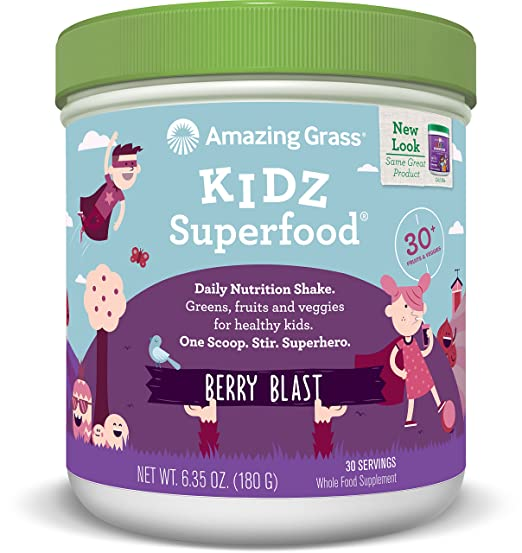Amazing Grass Kidz Superfood Berry Blast 30 Servings, 6.35 Oz