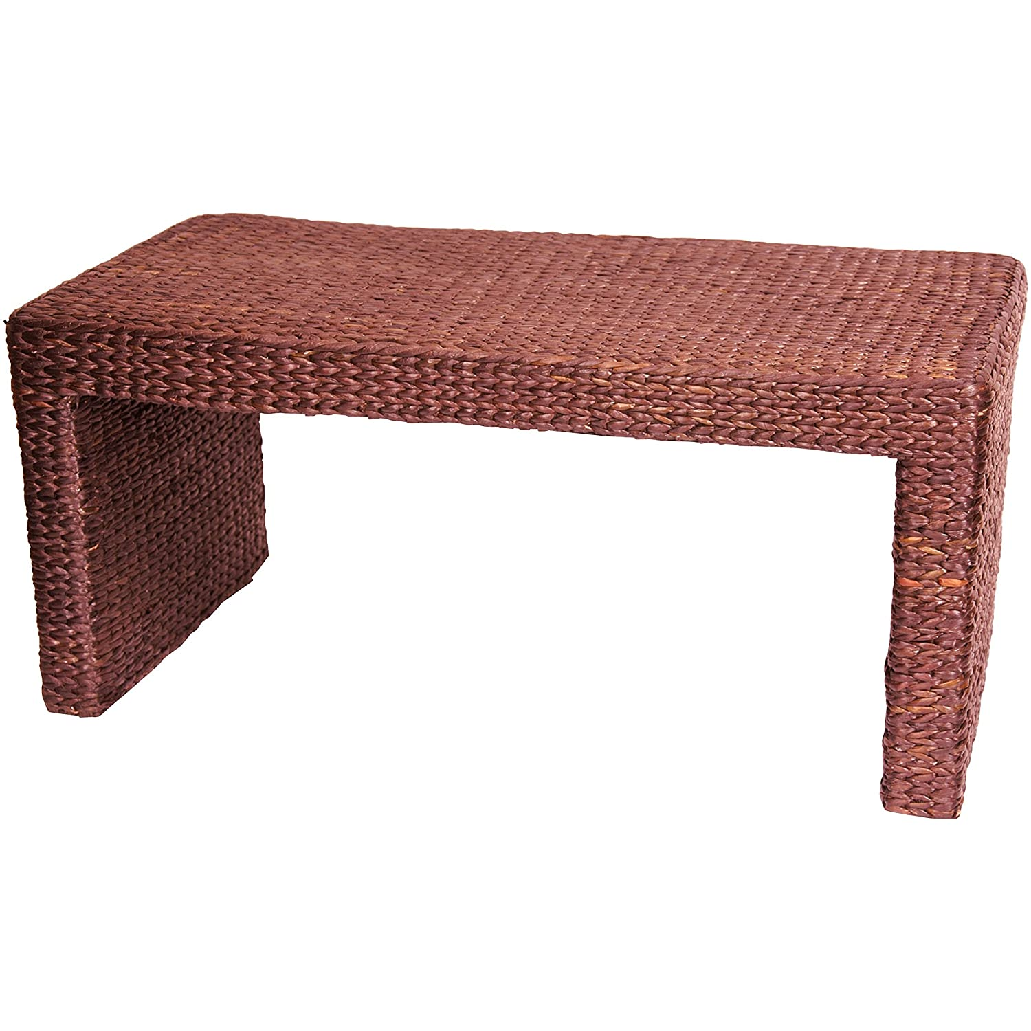 amazoncom oriental furniture simple natural fiber asian furnitue and decor 36 inch woven water hyacinth rattan style japanese design coffee table amazoncom oriental furniture rosewood korean tea table
