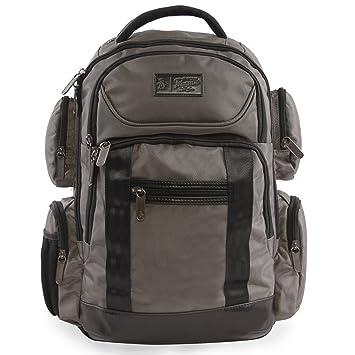Amazon.com  ORIGINAL PENGUIN Odell 9 Pocket Laptop Tablet Backpack  Briefcase Charcoal One Size 33cd1136ccabe