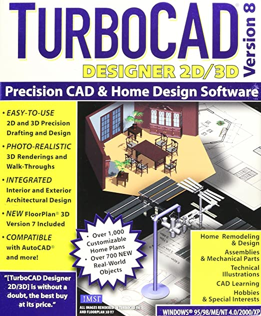 Amazon Com Turbocad Designer 2d 3d Version 8
