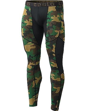 64772800a49 TSLA Men s Mesh-Panel Compression Pants Baselayer Cool Dry Sports Tights  Leggings MUP79
